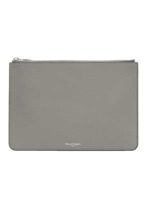 Maison Margiela SSENSE Exclusive Grey Classic Leather Pouch