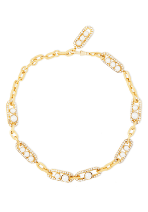Elizabeth Cole 24-karat Gold-plated, Crystal And Faux Pearl Necklace Woman Gold Size --