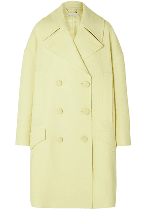 Givenchy Double-breasted Wool Coat Woman Pastel yellow Size 36