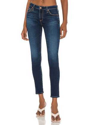 AG Adriano Goldschmied Legging Ankle Skinny Jean in Blue. Size 24, 25, 26, 27, 28, 29.