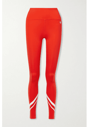 Tory Sport - Printed Stretch-jersey Leggings - Red