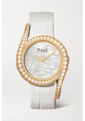 Piaget - Limelight Gala Limited Edition 32mm 18-karat Rose Gold, Alligator, Mother-of-pearl And Diamond Watch