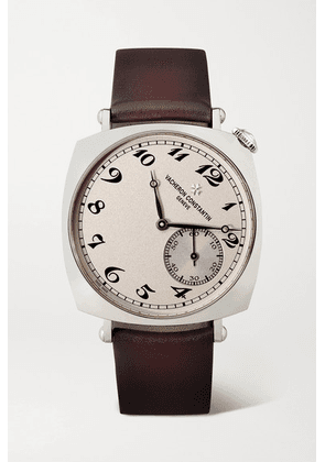 Vacheron Constantin - Historiques American 1921 Hand-wound 36.5mm 18-karat White Gold And Leather Watch