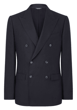 Dolce & Gabbana double-breasted linen suit - Blue
