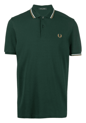 FRED PERRY embroidered-monogram polo shirt - Green