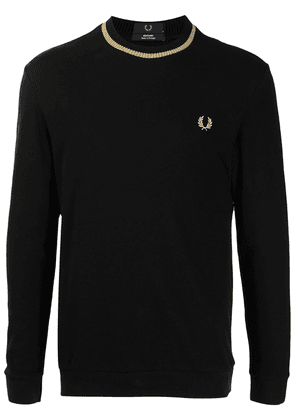 FRED PERRY embroidered-logo piqué T-shirt - Black