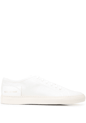 Common Projects Tournament lace-up canvas sneakers - White