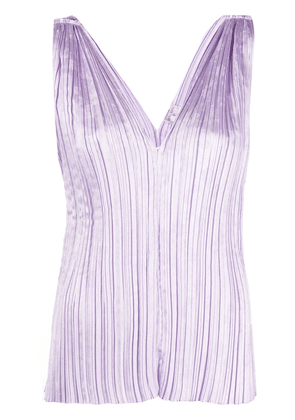 Forte Forte V-neck pleated blouse - Purple