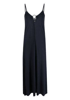 Emporio Armani sleeveless fitted maxi dress - Blue