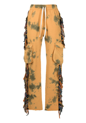 Alchemist tie-dye fringed stripe track trousers - Yellow