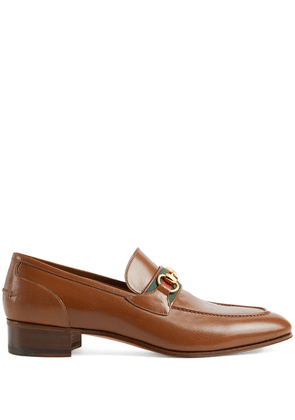 Gucci Horsebit leather moccasins - Brown
