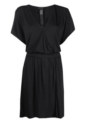 Emporio Armani short-sleeve belted dress - Black