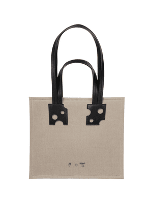 Repeat 32 leather-trimmed canvas tote