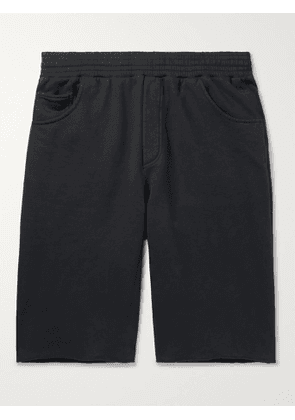ACNE STUDIOS - Wide-Leg Fleece-Back Cotton-Jersey Shorts - Men - Black - XS
