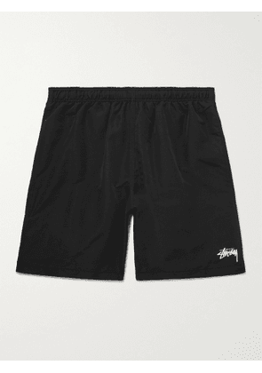STÜSSY - Wide-Leg Logo-Print Shell Shorts - Men - Black - S