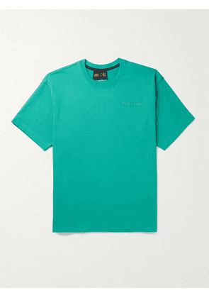 ADIDAS CONSORTIUM - Pharrell Williams Basics Logo-Embroidered Cotton-Jersey T-Shirt - Men - Green - XS