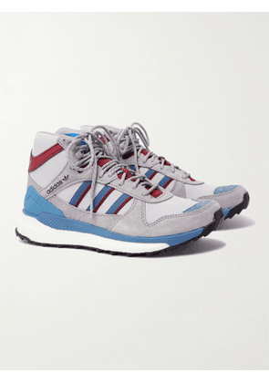 ADIDAS CONSORTIUM - Human Made Marathon Nubuck and Ripstop Sneakers - Men - Gray - 6