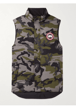 CANADA GOOSE - Garson Slim-Fit Camouflage Quilted Shell Down Gilet - Men - Gray - XS