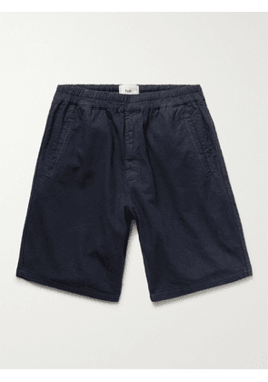FOLK - Linen and Cotton-Blend Shorts - Men - Blue - 3