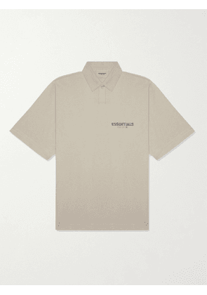 FEAR OF GOD ESSENTIALS - Logo-Print Cotton-Jersey Polo Shirt - Men - Green - M