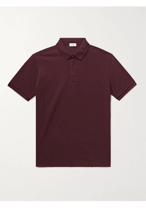 ETRO - Cotton-Piqué Polo Shirt - Men - Burgundy - XL