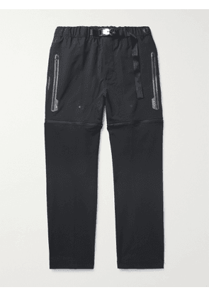 NIKE - 3-in-1 Convertible Cotton-Blend Shell Track Pants - Men - Black - XS