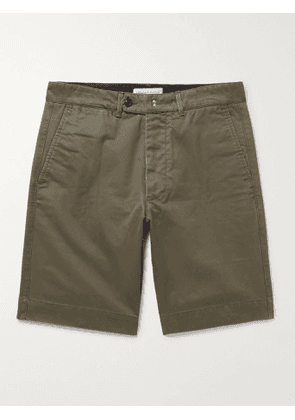 OFFICINE GÉNÉRALE - Fisherman Cotton-Twill Shorts - Men - Green - 36