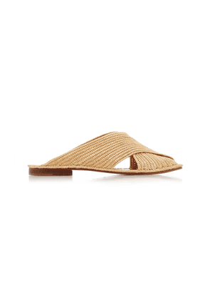 Carrie Forbes - Women's Arielle Raffia Sandals - Neutral - Moda Operandi