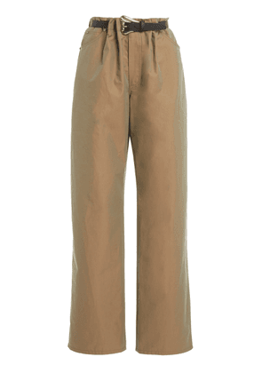By Any Other Name - Women's Belted Cotton-Blend Straight-Leg Utility Pants - Brown - Moda Operandi