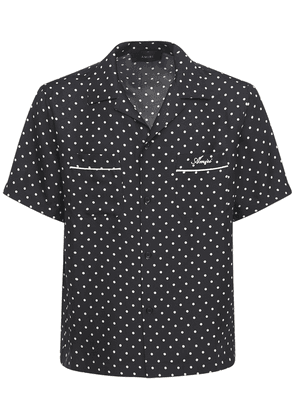 Polka Dots Print Silk Shirt