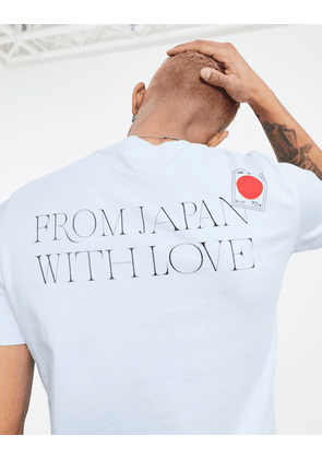 Edwin stamped with love t-shirt in blue