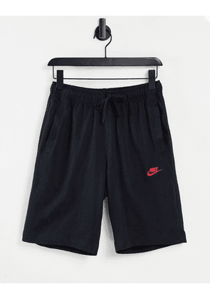 Nike Club shorts in black and red