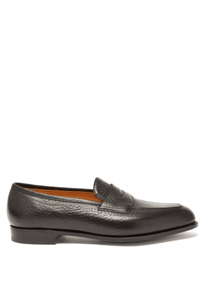 Edward Green - Piccadilly Grained-leather Loafers - Mens - Black