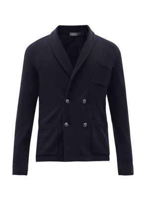 Ralph Lauren Purple Label - Shawl-collar Double-breasted Cashmere Cardigan - Mens - Navy
