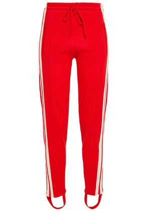 Isabel Marant Étoile Doriann Striped Stretch-jersey Track Pants Woman Red Size 38