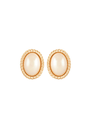 Susan Caplan Vintage 1980s Vintage Christian Dior Faux Pearl Clip-on Earrings