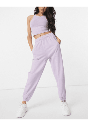 Bershka oversized jogger in lilac-Purple