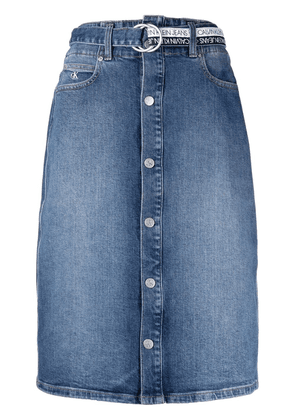 Calvin Klein Jeans denim midi skirt - Blue