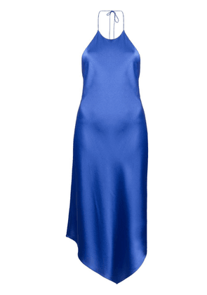 Alice+Olivia halterneck sleeveless midi dress - Blue