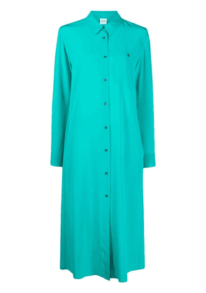 Aspesi chest patch pocket shirt dress - Green