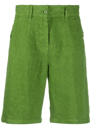 Aspesi knee-length linen shorts - Green