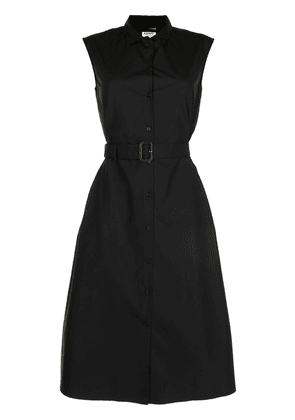Aspesi sleeveless belted shirt dress - Black