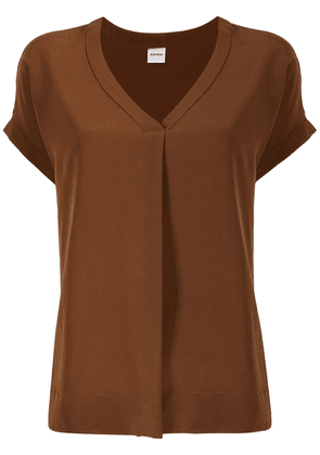 Aspesi V-neck silk blouse - Brown