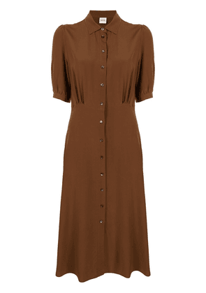 Aspesi short-sleeve silk shirt dress - Brown