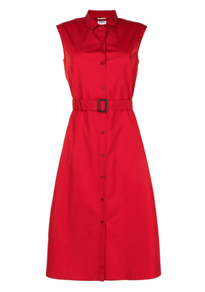 Aspesi sleeveless belted shirt dress - Red