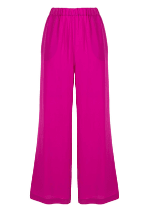 Aspesi cropped wide-leg silk trousers - Purple