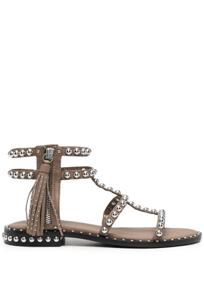 ASH Power studded leather sandals - Brown