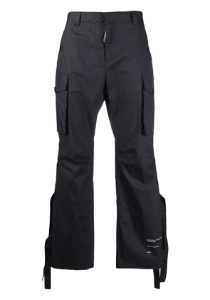 Off-White strap-detail cargo trousers - Blue