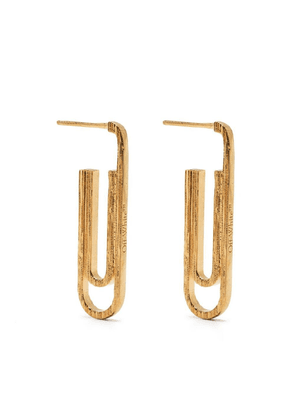 Off-White textured paperclip earrings - Gold