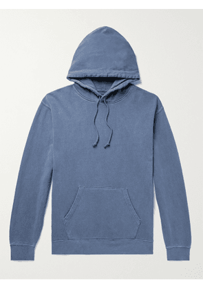 BEAMS PLUS - Pigment-Dyed Loopback Cotton-Jersey Hoodie - Men - Blue - S